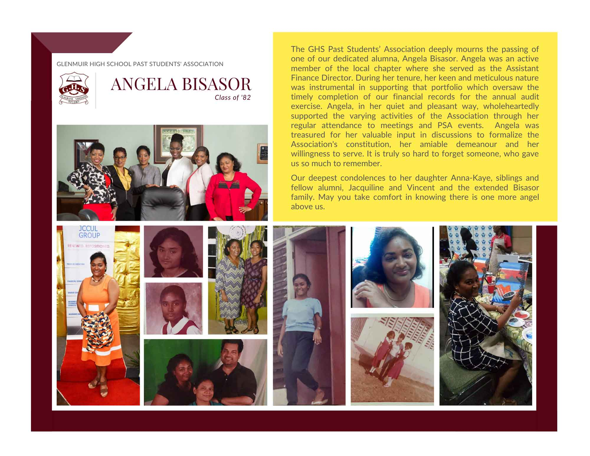 RIP Angela Bisasor