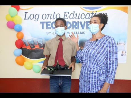 Glenmuir sixth-former donates tablets, laptops to students